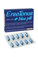 Erectonus Blue Pills - 10 gélules - Un complément alimentaire exclusivement pour hommes permettant de booster les performances sexuelles et la libido.