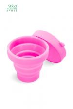 Boite de stérilisation et rangement Yoba Nature - Boite de stérilisation et de rangement pliable pour coupe menstruelle Yoba Nature, 100% silicone Premium.