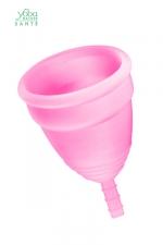 Coupe menstruelle Rose Yoba Nature - Coupe menstruelle 100% silicone Premium, coloris rose, disponible en 2 tailles, par Yoba Nature.