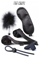 Kit bondage débutants - Fifty Shades Darker -  Fifty Shades Darker - Principles of Lust, le Kit d'accessoires bondage pour débutants.