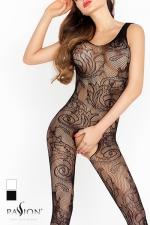 Combinaison Arabesques Passion - La résille dessine des arabesques de fleurs, un motif Tatoo qui s'imprime sans douleur sur votre peau.