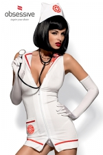 Costume Emergency Dress (avec sthétoscope) - Costume d'infirmière très très sexy avec le stéthoscope pour jouer au docteur !