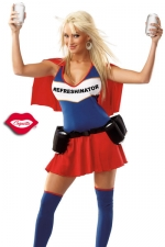 Costume Refreshinator - Un costume de super héroïne au pouvoir très spécial : servir des boissons toujours fraîches !