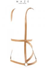 Robe harnais marron - Maze - Harnais marron en forme de robe, d'inspiration bondage, 100% Vegan, collection Maze, par Bijoux Indiscrets.