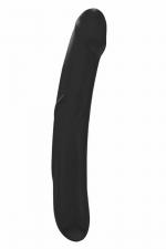 Godemichet Real Sensation L noir - Dorcel - Très beau gode noir de taille généreuse, réversible, 100% silicone, idéal pour transformer vos fantasmes en orgasme.