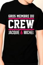 Tee-shirt Gros membre Jacquie et Michel - T-shirt humoristique Jacquie et Michel pour bien montrer qu'il y a du lourd sous le capot !