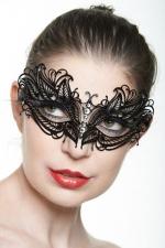 Masque vénitien Queen 6 - Masque vénitien fantaisie en métal incrusté de strass, un bijou mystérieux.