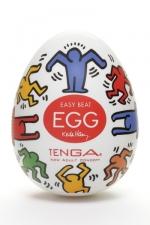 Tenga Egg dance - Keith Haring - Masturbateur Tenga EGG Dance, un sextoy collector avec design et texture exclusive.