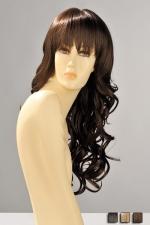 Perruque Zara - Perruque longue ondulée aux boucles souples et légères, avec une frange droite effilée qui souligne le regard.