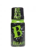 Poppers Beast 10 ml - Aphrodisiaque puissant originaire d'Angleterre, à base de nitrite de propyle, en petit flacon de 10 ml.