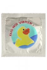 Préservatif humour - Fais Moi Vibrer - Préservatif  Fais Moi Vibrer , un préservatif personnalisé humoristique de qualité, fabriqué en France, marque Callvin.