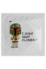 Préservatif humour - I Don't Want Clones - Préservatif  I Don't Want Clones , un préservatif personnalisé humoristique de qualité, fabriqué en France, marque Callvin.