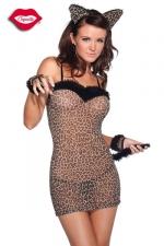 Costume chatte Felina - Ronronnez de plaisir dans ce costume de f�line sensuelle.